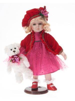 Porcelánová bábika s baretkou