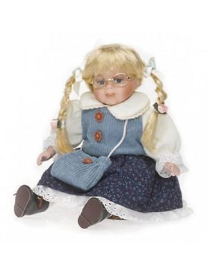 Porcelánová bábika modrá
