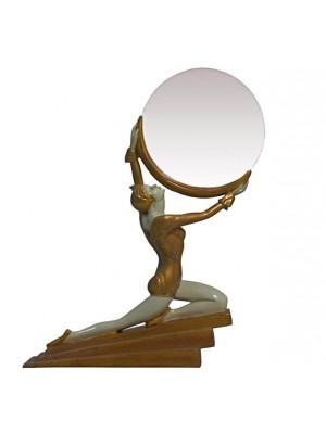 Stolové zrkadlo žena