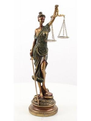 Socha spravodlivosť - polyrezin