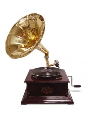 Retro gramofón na kľuku
