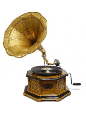 Starý gramofón na kľuku