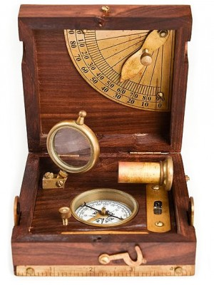 Námornícky kompas 4 v 1