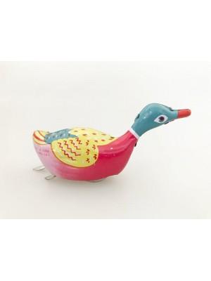 Plechová kačka na kľúčik