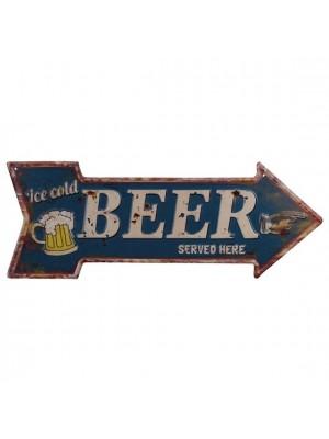 Plechová tabuľa BEER
