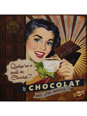 Plechová ceduľa Chocolat