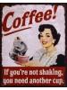 Plechová tabuľka Coffee