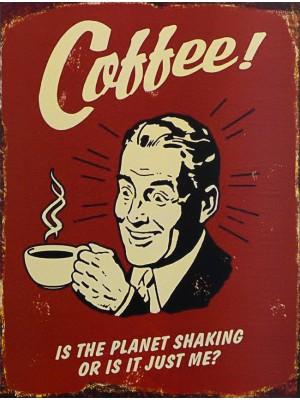 Plechová ceduľa Coffe