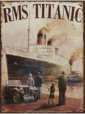 Plechová ceduľa Titanic